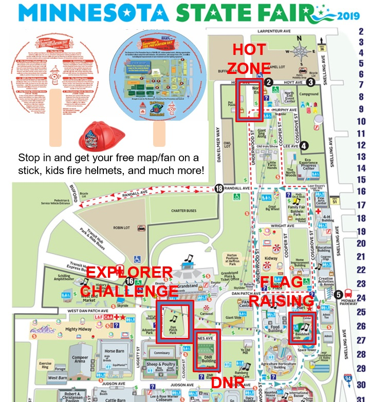 Mn State Fair Map 2020.Governor S Fire Prevention Day Engaging Educating